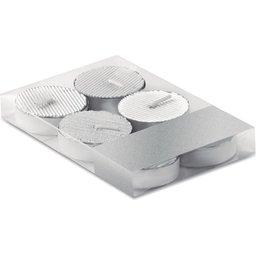 Set van 6 zilverkleurige theelichtjes