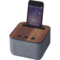 Shae stoffen en houten Bluetooth luidspreker bedrukken