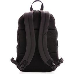 "Smooth PU 15.6"" laptop rugzak PVC-vrij -achterzijde"