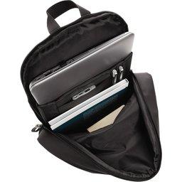 "Smooth PU 15.6"" laptop rugzak PVC-vrij -binnenzijde"