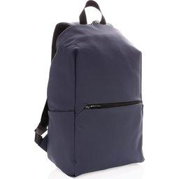 "Smooth PU 15.6"" laptop rugzak PVC-vrij -blauw"