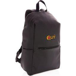 "Smooth PU 15.6"" laptop rugzak PVC-vrij -gepersonaliseerd"
