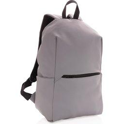 "Smooth PU 15.6"" laptop rugzak PVC-vrij -grijs"