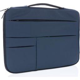 "Smooth PU 15.6"" laptop sleeve met handvat PVC-vrij"