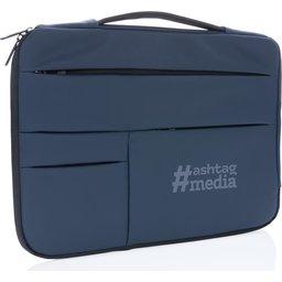 """Smooth PU 15.6"""" laptop sleeve met handvat PVC-vrij -gepersonaliseerd"""