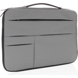 "Smooth PU 15.6"" laptop sleeve met handvat PVC-vrij -grijs"