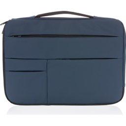"""Smooth PU 15.6"""" laptop sleeve met handvat PVC-vrij -voorzijde"""