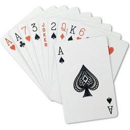 Speelkaarten in transparant doosje