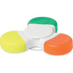 Spinmark handspinner met 3 kleuren highlighters