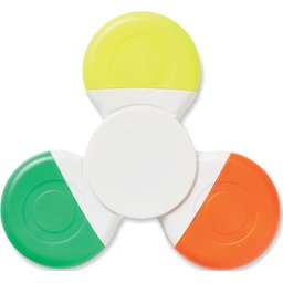 Spinmark handspinner met 3 kleuren highlighters bedrukken