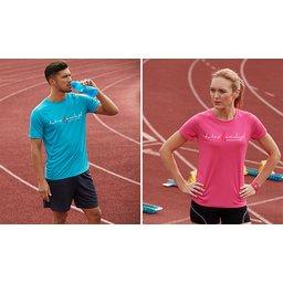 Sportt-shirt heren dames met bedrukking