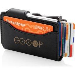 Standaard aluminium RFID kaarthouder met PU portemonnee bedrukken