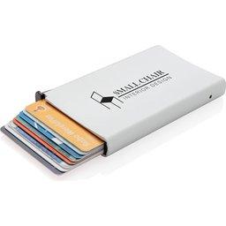 Standaard aluminum RFID kaarthouder bedrukt