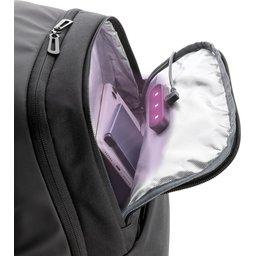 Swiss Peak laptop rugzak met UV-C sterilisatie vak-binnenzijde
