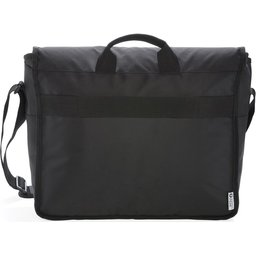 "Swiss Peak RFID 15"" laptop messenger tas PVC vrij -achterzijde"