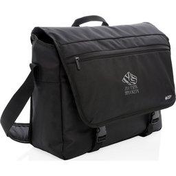 """Swiss Peak RFID 15"""" laptop messenger tas PVC vrij -gepersonaliseerd"""