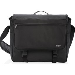 """Swiss Peak RFID 15"""" laptop messenger tas PVC vrij -voorzijde"""