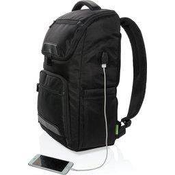 Swiss Peak RPET Voyager USB RFID laptop rugzak