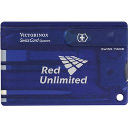 Swisscard Victorinox Quattro blauw