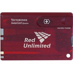 Swisscard Victorinox Quattro rood