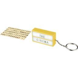 The Cinema lightbox sleutelhanger bedrukken
