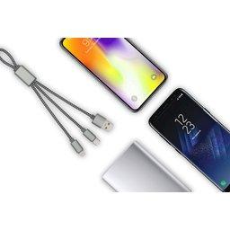 Trident oplaadkabel voor Apple & Android bedrukt