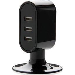 USB oplader met 3 poorten bedrukken