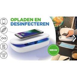 UV-C desinfectie box met 5W draadloze oplader