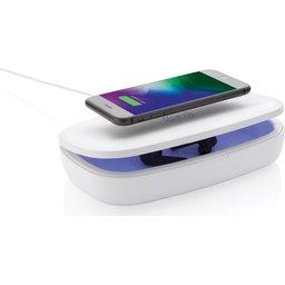 UV-C desinfectie box met 5W draadloze oplader - opladen & desinfecteren