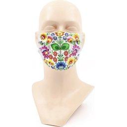 Wasbaar stoffen mondmasker met bedrukking naar keuze 1