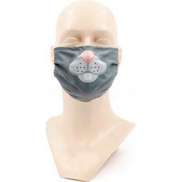 Wasbaar stoffen mondmasker met bedrukking naar keuze 2