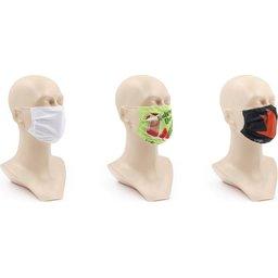 Wasbaar stoffen mondmasker met bedrukking naar keuze 4