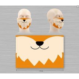 Wasbaar stoffen mondmasker met bedrukking naar keuze 7