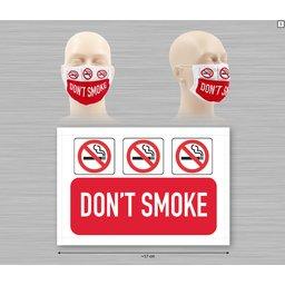 Wasbaar stoffen mondmasker met bedrukking naar keuze 9