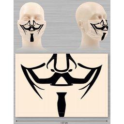 Wasbaar stoffen mondmasker met bedrukking naar keuze bedrukte