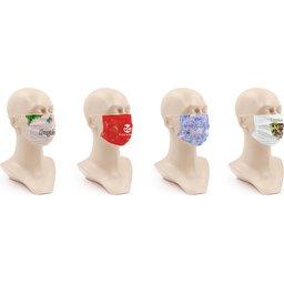Wasbaar stoffen mondmasker met bedrukking naar keuze bestellen