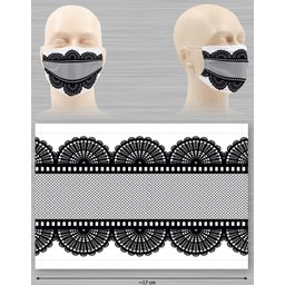 Wasbaar stoffen mondmasker met bedrukking naar keuze opdruk