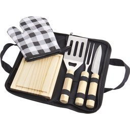 West 5 delige BBQ set bedrukken