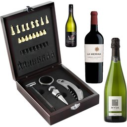 Wijnpakket met schaakspel