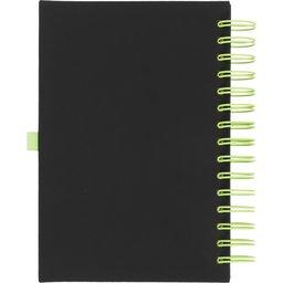 Wiro notitieboek -lime achterzijde