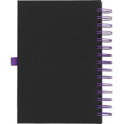 Wiro notitieboek -paars achterzijde