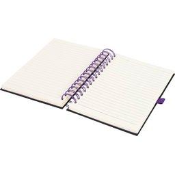 Wiro notitieboek -paars open