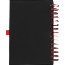 Wiro notitieboek -rood achterzijde