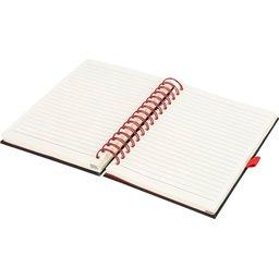 Wiro notitieboek -rood open