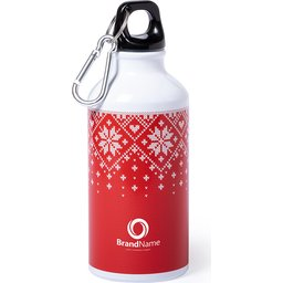 Xmas design drinkfles - 400 ml bedrukt