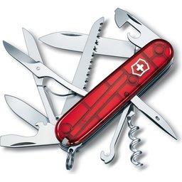 Zakmes Victorinox Huntsman transparant rood